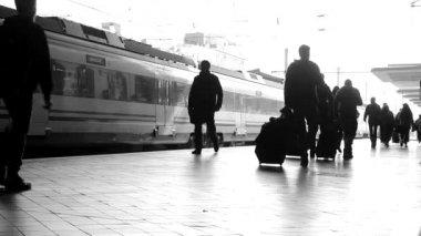 Train Station — Stock Video