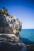 Landscape with cliffs and blue sea — Stock Photo