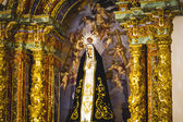 Irgin Mary in gilded chapel — Stok fotoğraf