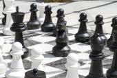 Giant chess games — Stock Photo