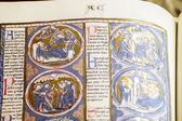 Libro manuscrito medieval — Foto de Stock
