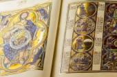 Medieval handwritten book — Stock Photo