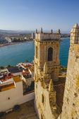 Paisagem espanhola com o azul profundo do mar — Fotografia Stock