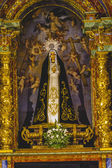Image of the Virgin Mary in gilded chapel — Stock Photo