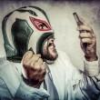 Businessman with mexican wrestler mask — Stock Photo #53897719