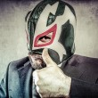 Businessman with mexican wrestler mask — Stock Photo #53897801