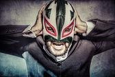 Uomo nella mascherina del wrestler messicano — Photo