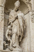 Ornaments and sculptures of Gothic style — Foto de Stock