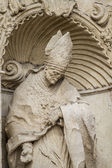 Ornaments and sculptures of Gothic style — Stock Photo