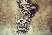Schets van de tatoeage kunst — Stockfoto