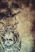 Vzor tetování — Stock fotografie
