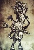 Skizze der tattoo-kunst — Stockfoto