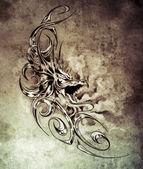 Esboço da arte da tatuagem — Foto Stock
