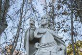 Sabati Gardens with sculpture — Stock Photo
