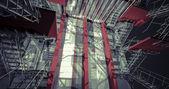 Modern interiör i industribyggnad — Stockfoto