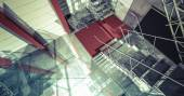 Moderní interiér v průmyslové budovy — Stock fotografie