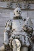 Cervantes sculpture in Madrid — Stock Photo