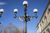 Street lamp near National Library — Stock Photo