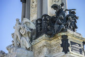 Bronze sculptures of Monument to King Alfonso XII — Stock Photo