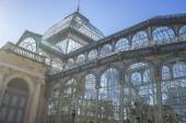 Crystal palace in het retiro park — Stockfoto