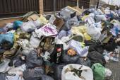 Strike by municipal waste collection — Stock Photo