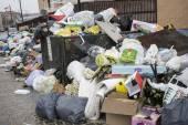 забастовка муниципальным вывозом отходов — Стоковое фото