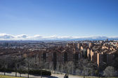 Madrid city skyline — Stock Photo