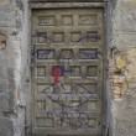 Medieval door Spanish city of Segovia. — Stock Photo #69530117