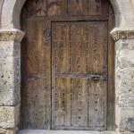 Medieval door Spanish city of Segovia. — Stock Photo #69530145