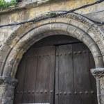 Medieval door Spanish city of Segovia. — Stock Photo #69530151