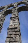 Roman aqueduct of segovia. — Stock Photo