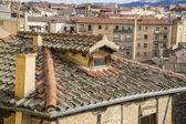Aerial views of the Spanish city of Segovia. — Stock Photo