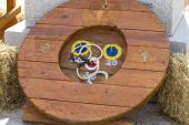 Traditional, spanish game with hoops — Stok fotoğraf