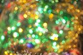 Desenfocada resumen antecedentes de navidad rojo y amarillo — Foto de Stock