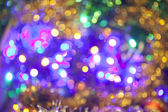 Defocused abstract red and yellow christmas background — Stock Photo