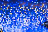 Defocused urban abstract texture, bokeh lights of city lights in — Stock Photo