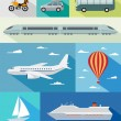 Transportation flat icons — Stock Vector #61511723