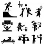 Childhood vector set. Pictogram icon set. — Stock Vector #63494667