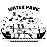 Aqua park flat vector illustration. — Stock Vector #63494779