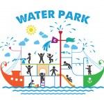 Aqua park flat vector illustration. — Stock Vector #63494809