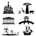 Постер, плакат: Travel icons