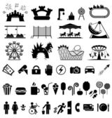 Amusement park icons.  — Stock Vector