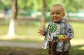 Little boy in park — Stock Photo