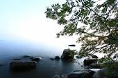 Rocks on seashore — Stock Photo
