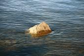 Kieselsteine unter wasser — Stockfoto