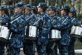 Ensayo general del desfile militar — Foto de Stock