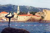 Budva on Adriatic Sea coast — Stock Photo