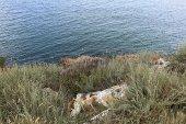 Boulders on sea coast — Stock Photo