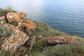 Cliff rocks on coast — Stock Photo