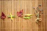 Background with leaves — Stock Photo